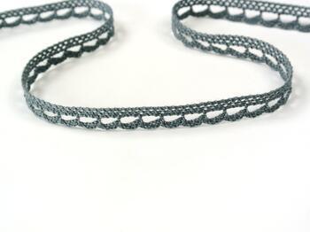 Cotton bobbin lace 73012, width 10 mm, gray - 2