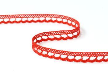 Paličkovaná krajka 73012 bavlněná, šířka10mm, červená - 2