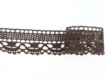 Bobbin lace No. 75005 dark brown | 30 m - 2