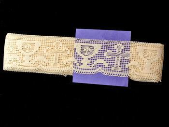 Cotton bobbin lace 75017, width48mm, ecru - 2