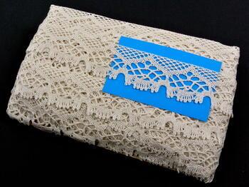 Paličkovaná krajka 75022 bavlněná, šířka45mm, slonová kost - 2