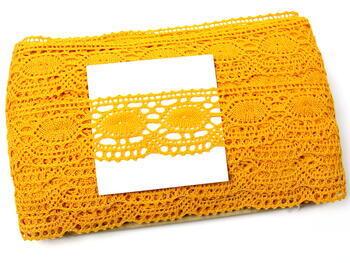 Paličkovaná krajka 75032 bavlněná, šířka45mm, tmavě žlutá - 2