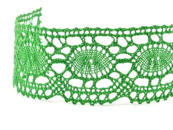 Paličkovaná krajka 75032 bavlněná, šířka45mm, trávová zelená - 2