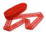 Paličkovaná vsadka vzor 75038 červená | 30 m - 2/2