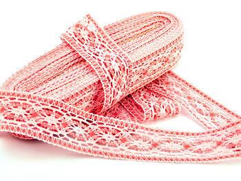 Paličkovaná vsadka 75038 bavlněná, šířka52mm, růžová/starorůžová - 2