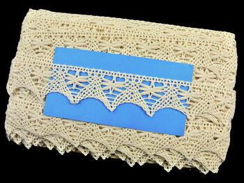 Cotton bobbin lace 75039, width36mm, ecru - 2