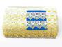Cotton bobbin lace 75041, width40mm, white/yellow/light yellow - 2/4
