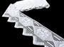Cotton bobbin lace 75058, width 120 mm, white - 2/3