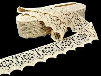 Cotton bobbin lace 75059, width 81 mm, ecru - 2