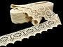 Cotton bobbin lace 75059, width 81 mm, ecru - 2/3