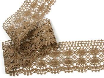 Cotton bobbin lace 75076, width 53 mm, dark beige - 2