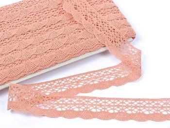Bobbin lace No. 75077 salmon pink | 30 m - 2
