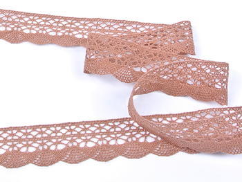 Bobbin lace No. 75077 terracotta | 30 m - 2