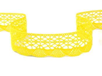 Paličkovaná krajka vzor 75077 žlutá | 30 m - 2