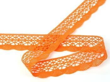 Cotton bobbin lace 75077, width 32 mm, rich orange - 2