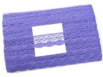 Paličkovaná krajka 75077 bavlněná, šířka32mm, purpurová II/fialová - 2