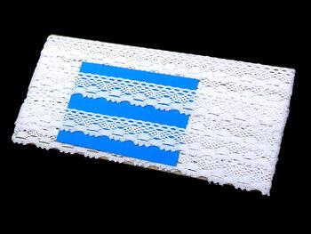 Cotton bobbin lace 75084, width 23 mm, white - 2