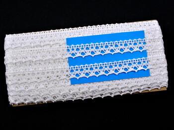Paličkovaná krajka 75087 bavlněná, šířka19mm, bílá - 2
