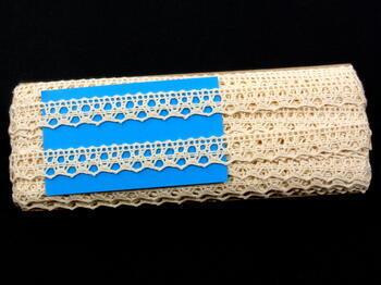 Cotton bobbin lace 75087, width 19 mm, ecru - 2