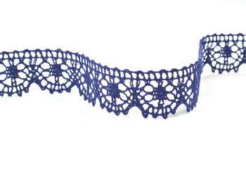 Paličkovaná krajka vzor 75088 tmavě modrá | 30 m - 2