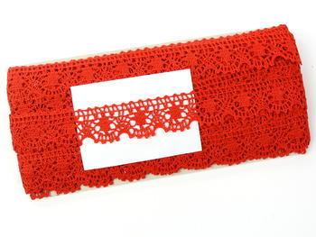 Paličkovaná krajka vzor 75088 červená | 30 m - 2