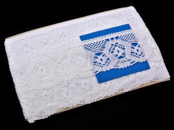 Paličkovaná krajka vzor 75096 bílá | 30 m - 2