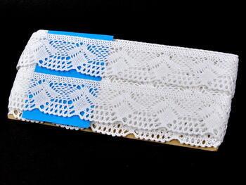 Paličkovaná krajka 75098 bavlněná, šířka45mm, bílá - 2