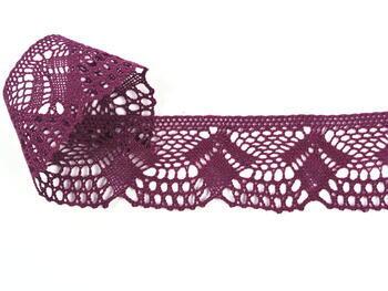 Paličkovaná krajka 75098 bavlněná, šířka45 mm, fialová - 2