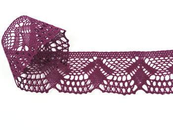 Paličkovaná krajka vzor 75098 fialová | 30 m - 2