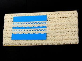 Paličkovaná krajka 75099 bavlněná, šířka18 mm, režná - 2