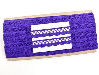 Cotton bobbin lace 75099, width 18 mm, purple/violet - 2