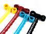 Cotton bobbin lace 75099, width 18 mm, turquoise - 2/2