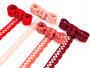 Cotton bobbin lace 75099, width 18 mm, pink - 2/2