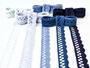 Paličkovaná krajka vzor 75428/75099 mořská modrá | 30 m - 2/2