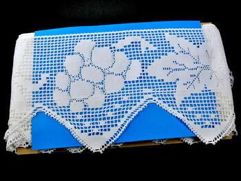 Paličkovaná krajka 75102 bavlněná, šířka210 mm, bílá - 2