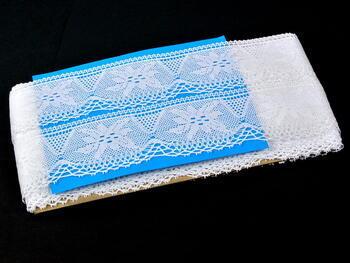 Paličkovaná krajka 75105 bavlněná, šířka46 mm, bílá - 2