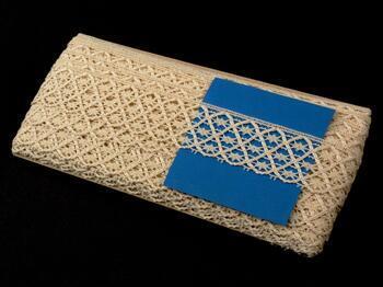 Cotton bobbin lace 75123, width 35 mm, ecru - 2