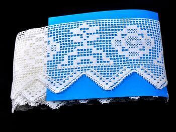 Paličkovaná krajka 75126 bavlněná, šířka120 mm, bílá - 2