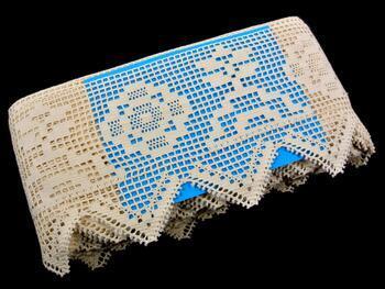 Cotton bobbin lace 75126, width 120 mm, ecru - 2