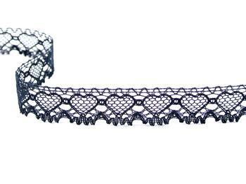 Cotton bobbin lace 75133, width 19 mm, black - 2