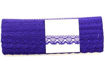 Cotton bobbin lace 75133, width 19 mm, purple - 2