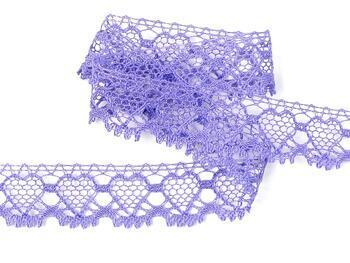Cotton bobbin lace 75133, width 19 mm, purple/lavender - 2