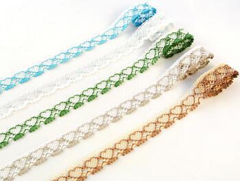 Bobbin lace No. 75133 beige/dark beige | 30 m - 2