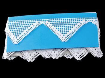 Paličkovaná krajka 75142 bavlněná, šířka60 mm, bílá - 2