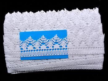 Paličkovaná krajka 75145 bavlněná, šířka50 mm, bílá - 2