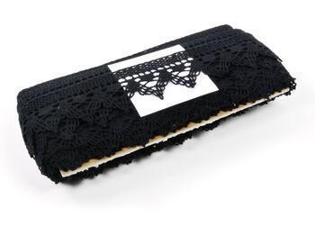 Paličkovaná krajka 75145 bavlněná, šířka50 mm, černá - 2