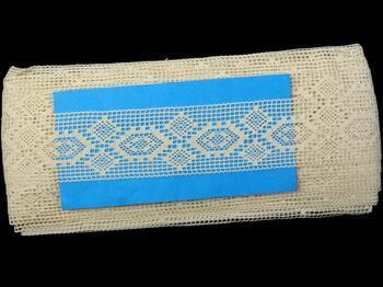 Cotton bobbin lace insert 75166, width40mm, ecru - 2