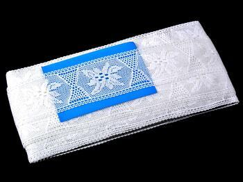 Paličkovaná vsadka 75167 bavlněná, šířka46 mm, bílá - 2