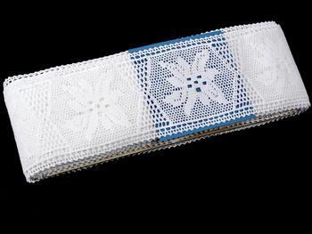Cotton bobbin lace insert 75168, width80mm, white - 2