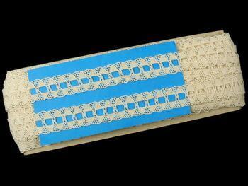 Paličkovaná krajka 75169 bavlněná, šířka20 mm, režná - 2